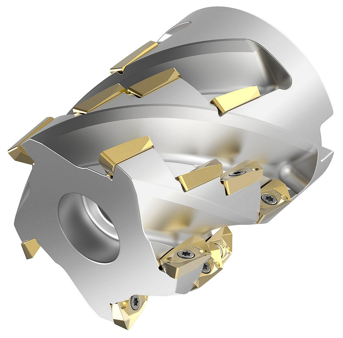 Indexable Helical Shell Mills