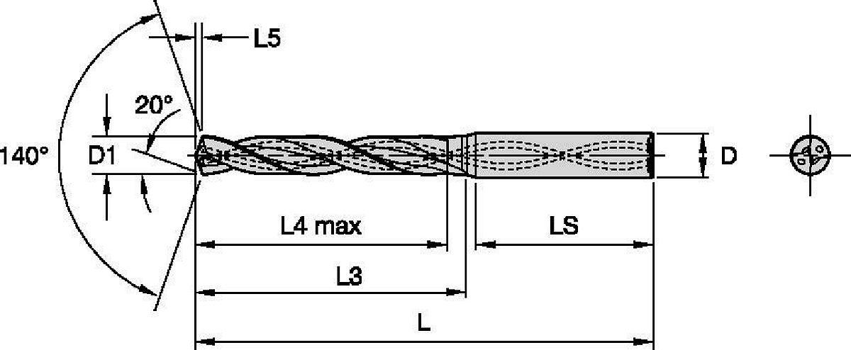 HPX • B225 • 5 x D • Wewnętrzne doprowadzanie chłodziwa