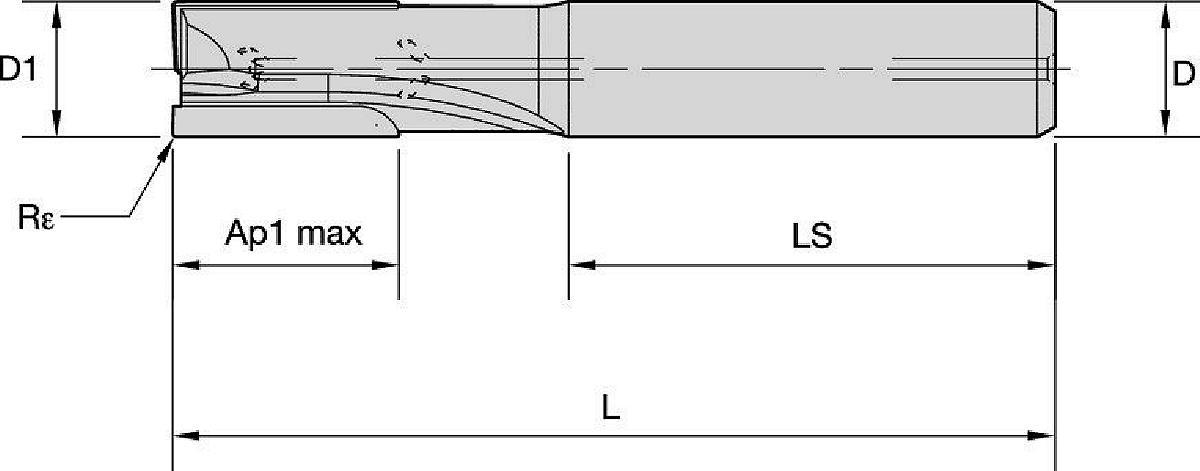 PCD End Mill • ALCC • 2 Flutes • 1.5 X D • Internal Coolant