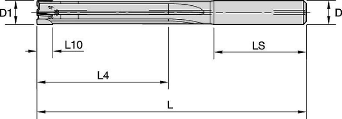 PCD Reamer • R215 • 5 x D • Internal Coolant