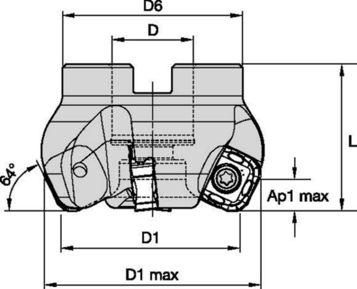 M8065HD • Nástrčné frézy • Čelní frézy pro náročné operace