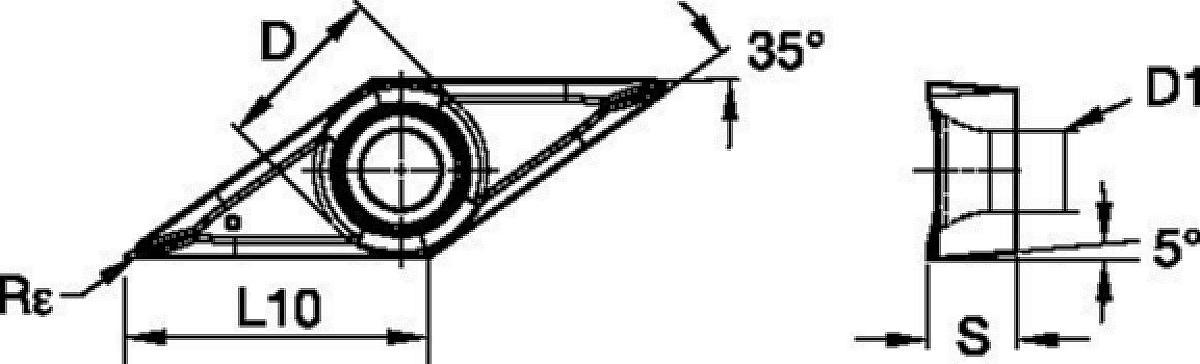 WIDIA™ 刀片 • VBGT-AL • 铝材加工