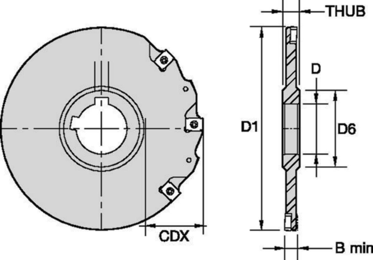 Frese per scanalatura strette • Tipo A, montaggio ad albero