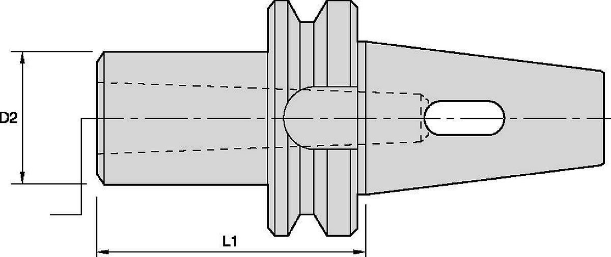 Adaptador de cono Morse