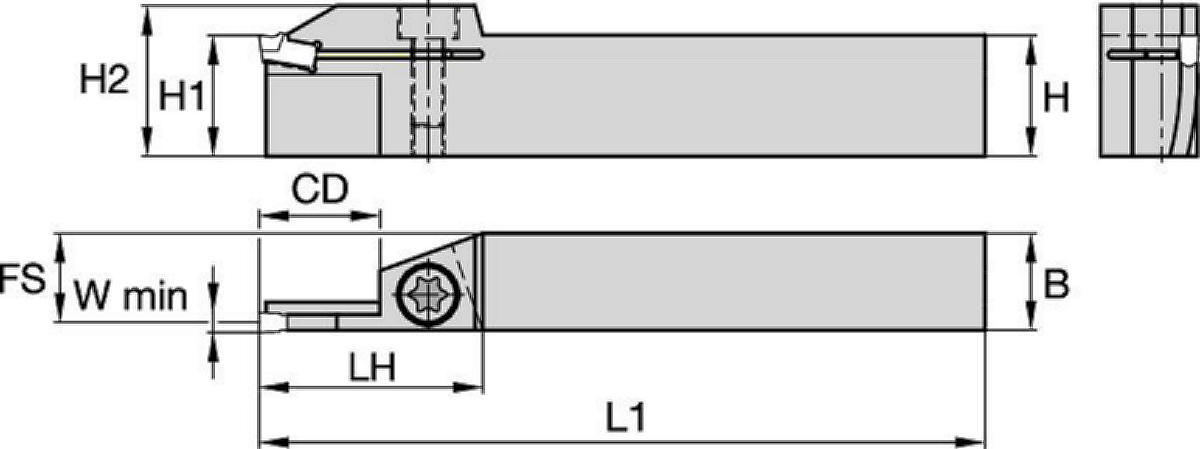 A3™ Deep-Grooving Toolholders • Face Grooving