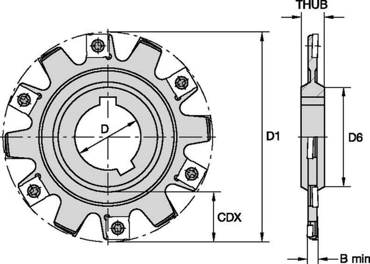 Frezy do wąskich rowków • Typ A, mocowanie w oprawce