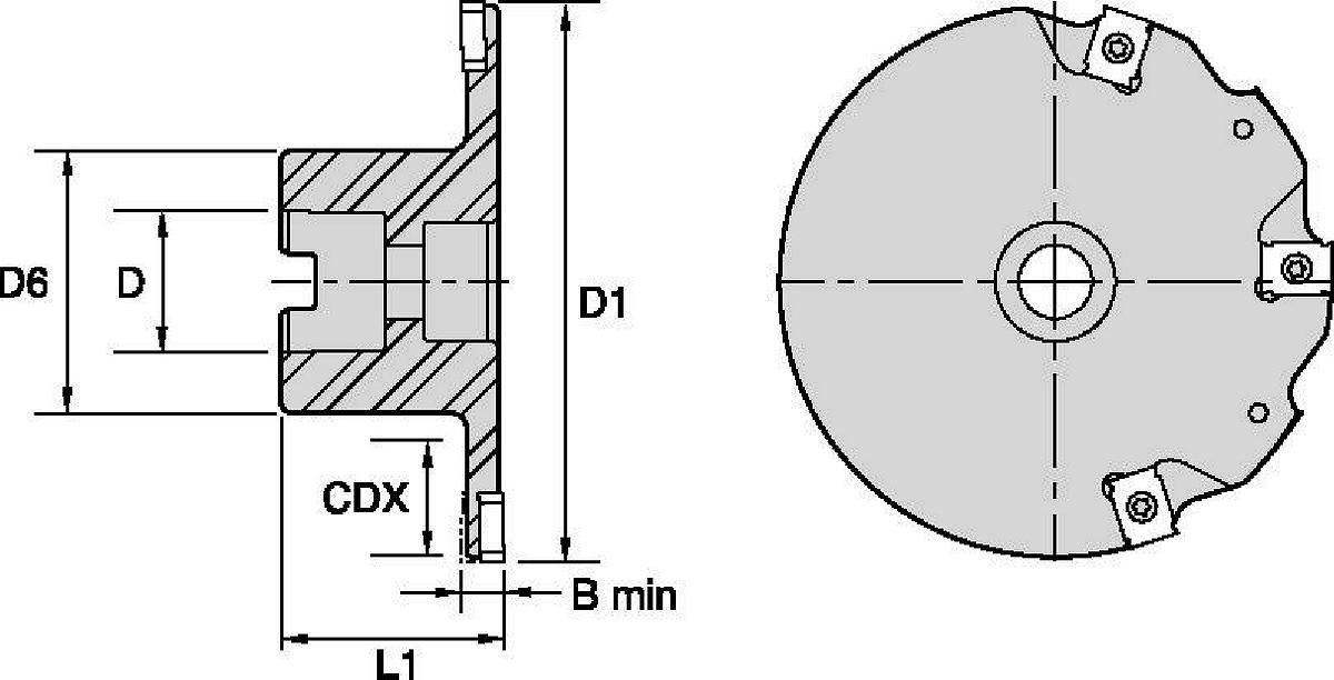 Narrow Slotting Cutters • Shell Mount
