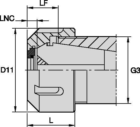 LOCKNUT-COOLANT STYLE