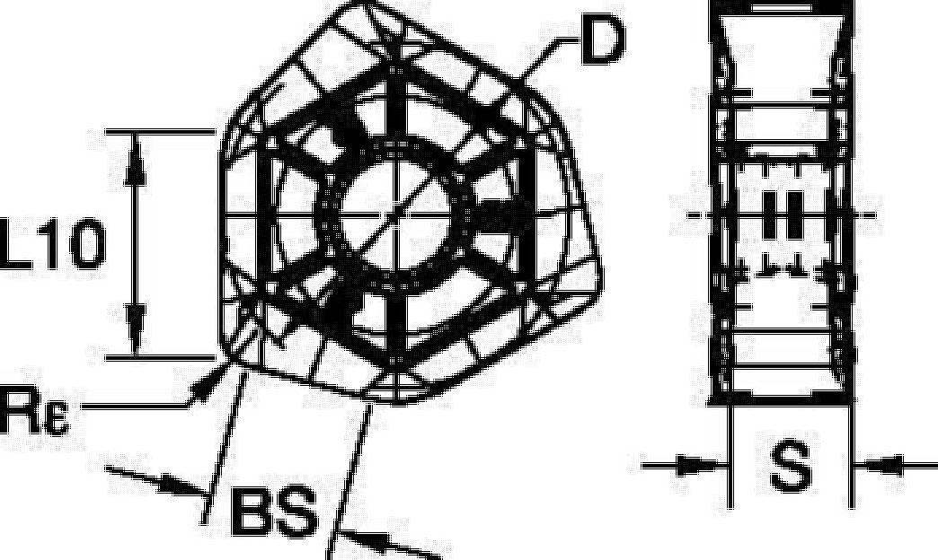 Inserti a fissaggio meccanico • Dodeka • XNGU • Finitura