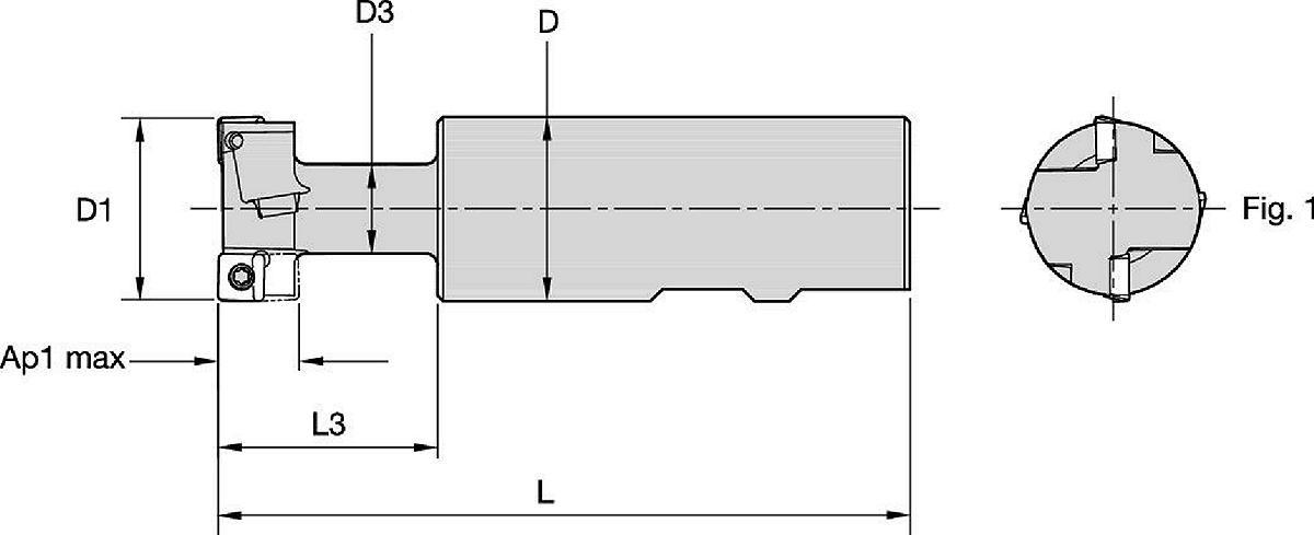 Frez składany do rowków typu T