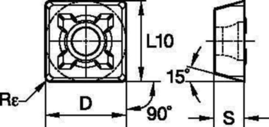 Płytki wymienne • Frezy do rowków typu T