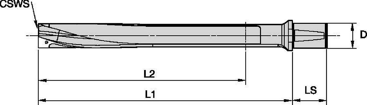KSEM PLUS™ Werkzeugkörper mit 2° Whistle Notch™-Schaft