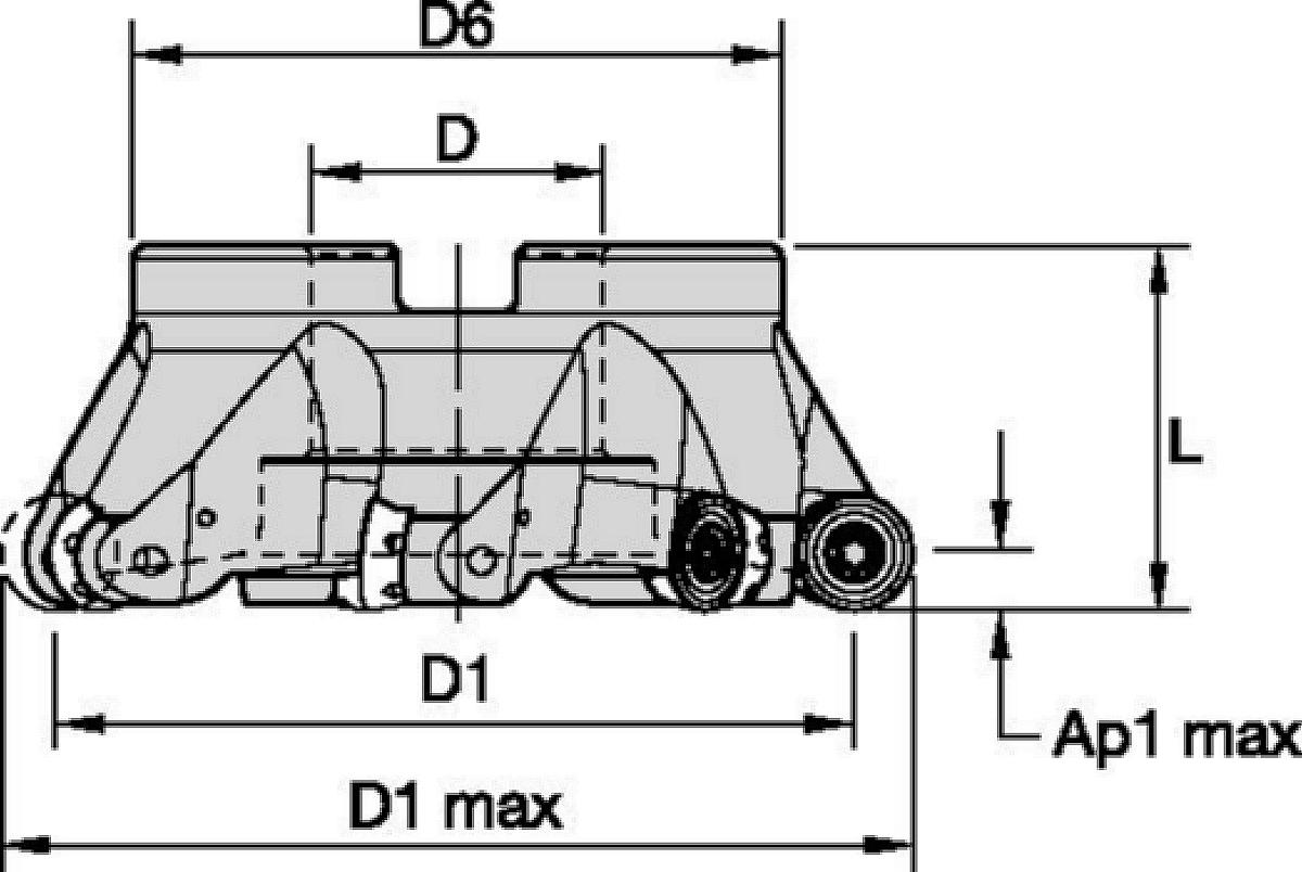 Frese a manicotto • RD1605 • Sistema metrico