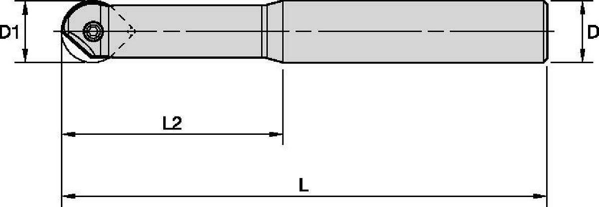 Cuerpos de herramienta con punta esférica