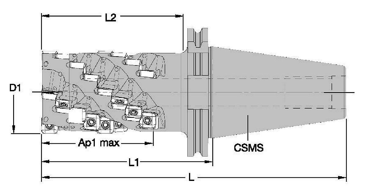 Frézovací tělesa M390 • SD1204..