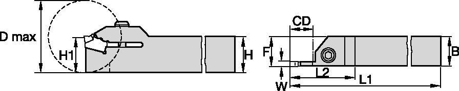 Integrální držáky nástrojů ProGroove™  • Zapichovací a kopírovací