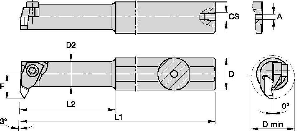 1.5 Overall Length AlTiN Coated Micro 100 DBM-015050X Coolant Through Boring Tools for MIniDigi Boring Heads 0.015 Minimum Bore Diameter 8 mm Shank Diameter 0.050 Maximum Bore Depth