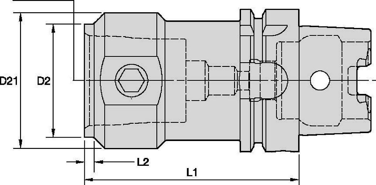 HSK63T to KM™ 夹持装置 • 镗杆接头