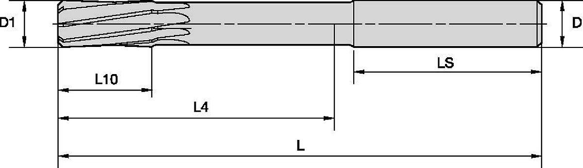 HSR™ Vollhartmetall-Reibahlen