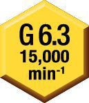 Equilibrio —  G 6.3 a 15,000 min -1