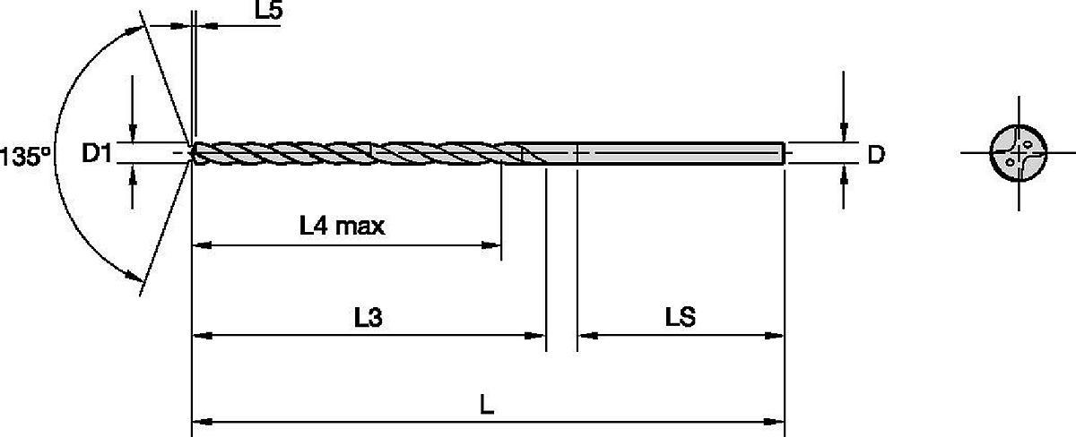 Forets pour Trou Profond Beyond™ SD • Multiples Matériaux • Arrosage Interne