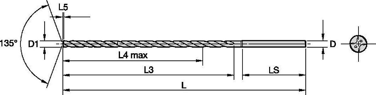 Wiertła do głębokich otworów Beyond™ SC • Obróbka stali i materiałów nieżelaznych • Wewnętrzne doprowadzanie chłodziwa