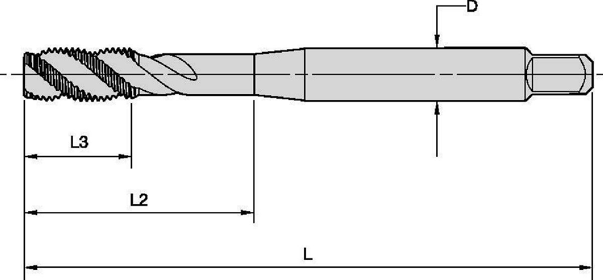 Gwintowniki Beyond™ HSS-E-PM z rowkiem wiórowym spiralnym • Otwory nieprzelotowe
