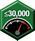 Velocità massima — 30,000 giri/min