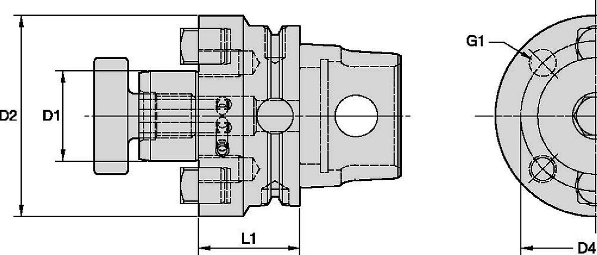 SMC Shell Mill Adapters Through Coolant