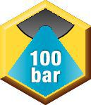 Arrosage —  Arrosage interne  100 bar (1500 psi)  Maximum