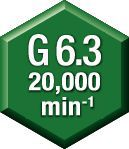 Equilibrio —  G 6.3 a 20,000 min -1