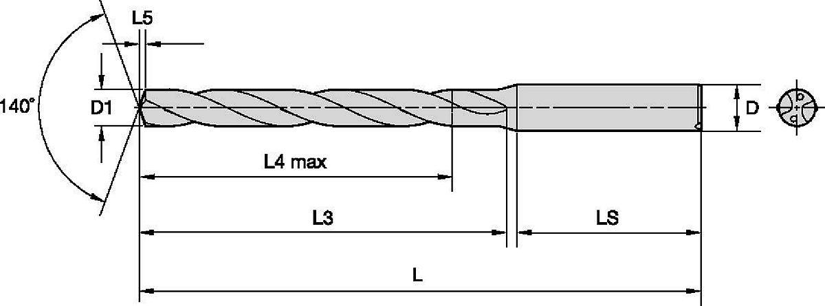 GOdrill™ • Ampla faixa de materiais • Refrigeração interna