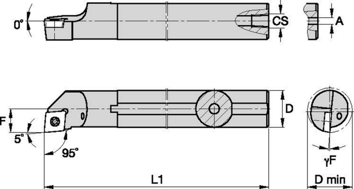 Steel Shank with Through Coolant