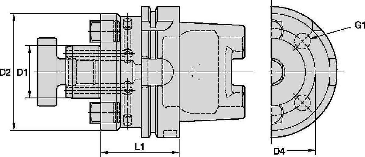 Adaptéry pro nástrčné frézy s vnitřním chlazením