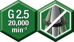 Equilibrio —  G 2.5 a 20,000 min -1