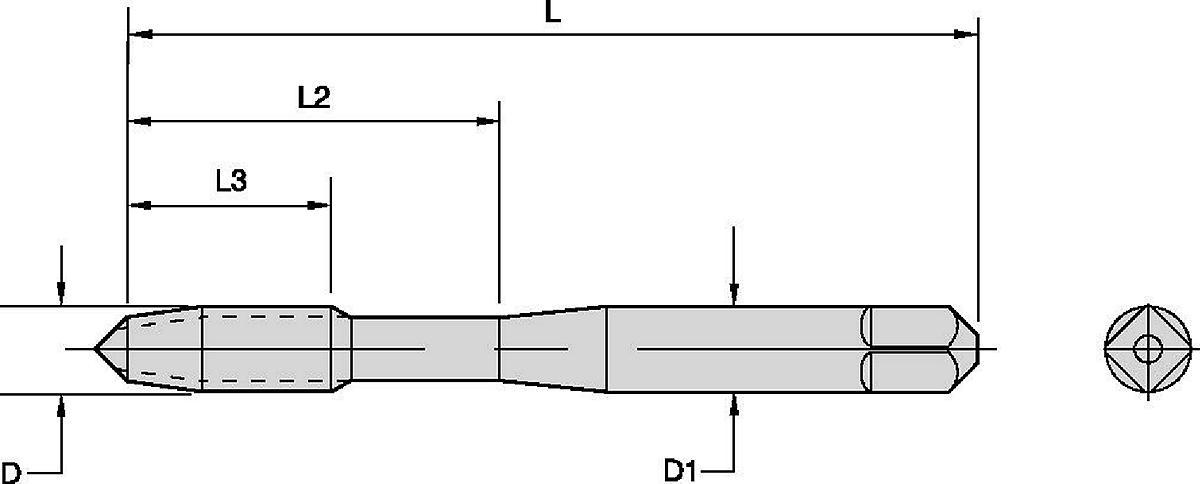TRU-LEDE™ Fe Taps • Forming Taps • Blind Holes in General Machining Applications