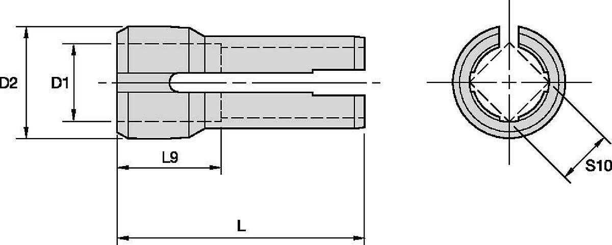 Boquillas de macho de roscar integral de doble ángulo serie DA