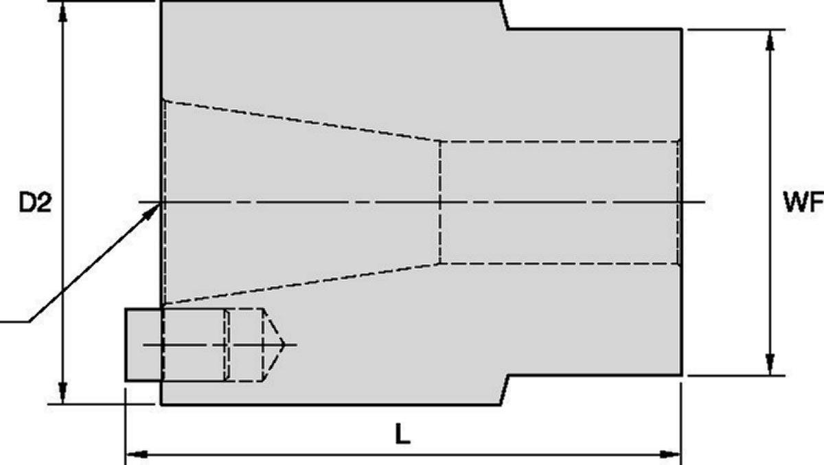 Accesorios de apriete, montajes de mordaza de cono grande 7/24 • Montajes universales