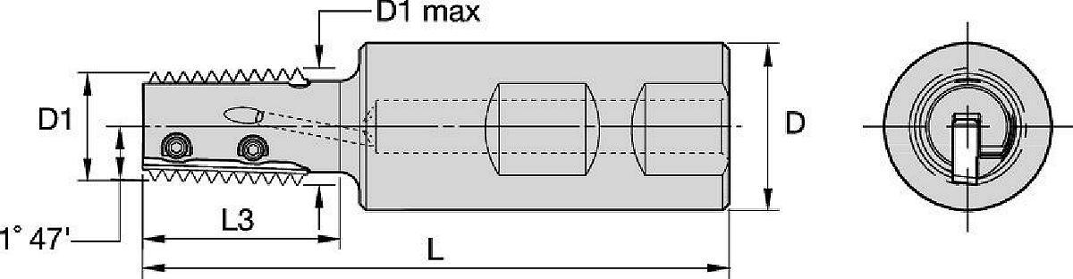 TMT25 • Weldon® Shank • Conical Threads