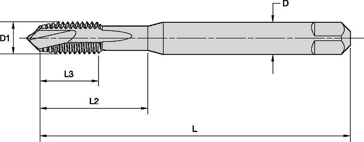 Victory™ HSS-E-PM Gewindebohrer mit spiralförmigem Anschnitt • Durchgangsbohrungen