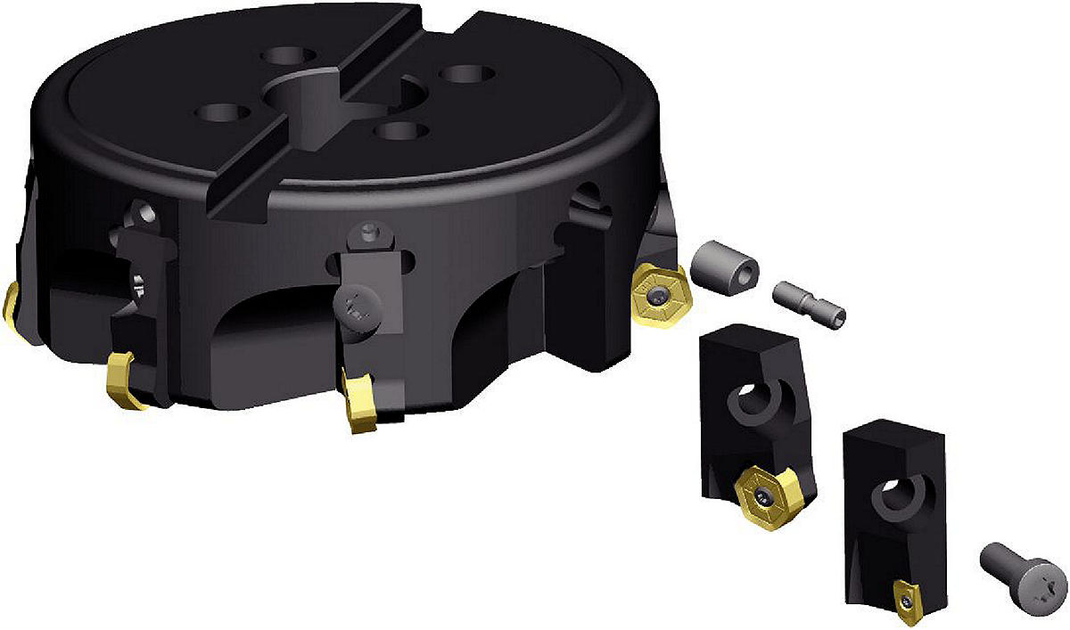 Cartridge Milling System Tool Bodies
