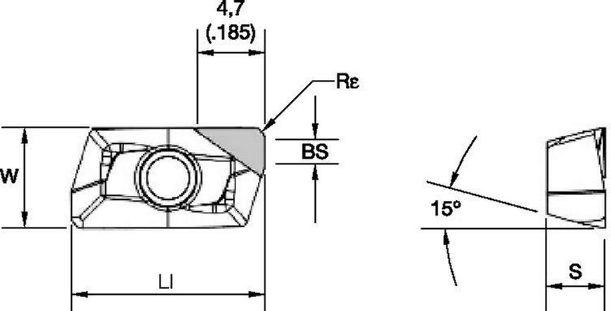Wendeschneidplatten • XDCW-PCD