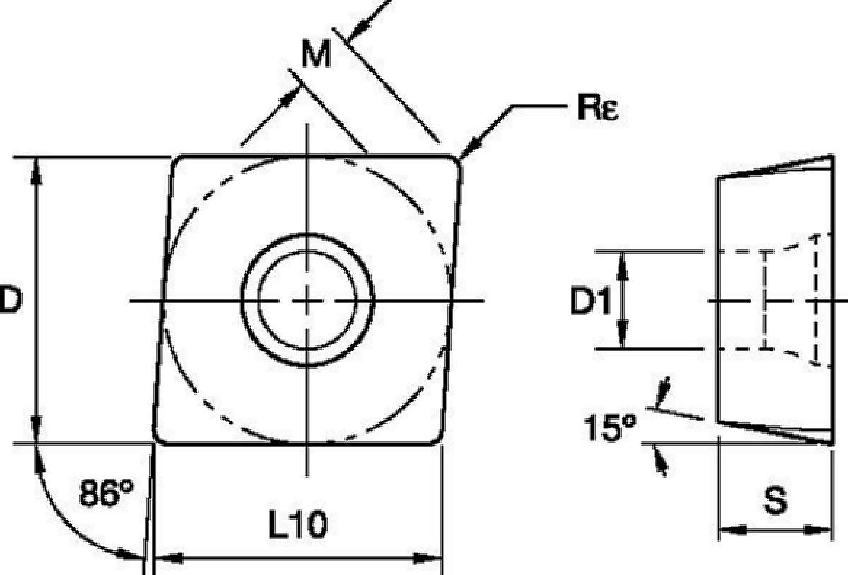 M900 • Inserti a fissaggio meccanico • MDH..