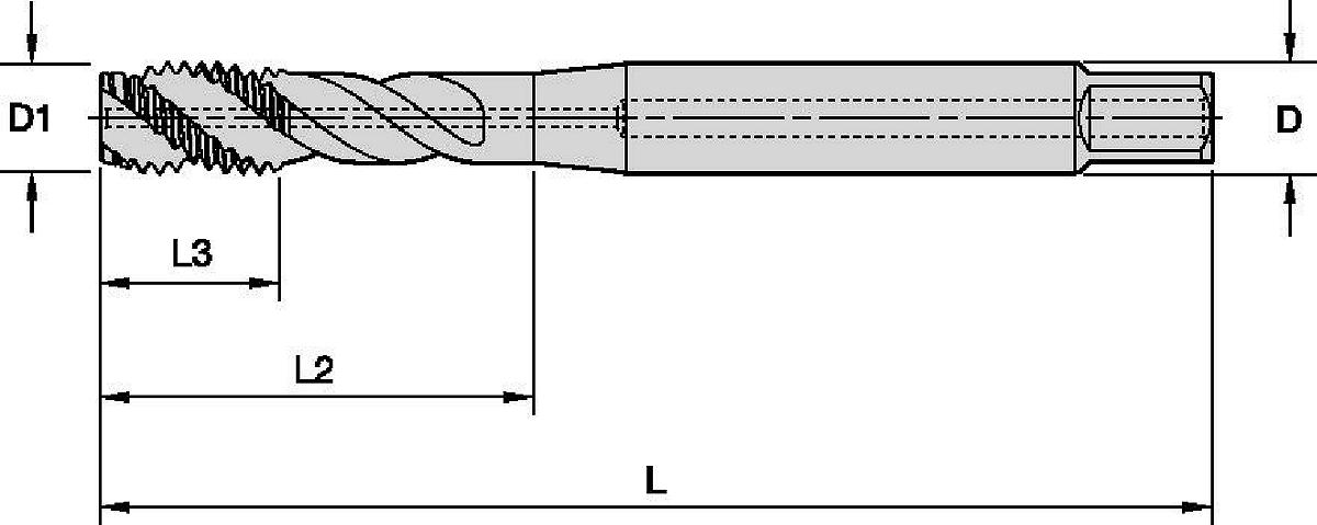 Victory™ •GT31 • Form C Semi-Bottoming Chamfer • Metric DIN 371 and 376 • Spiral Flute