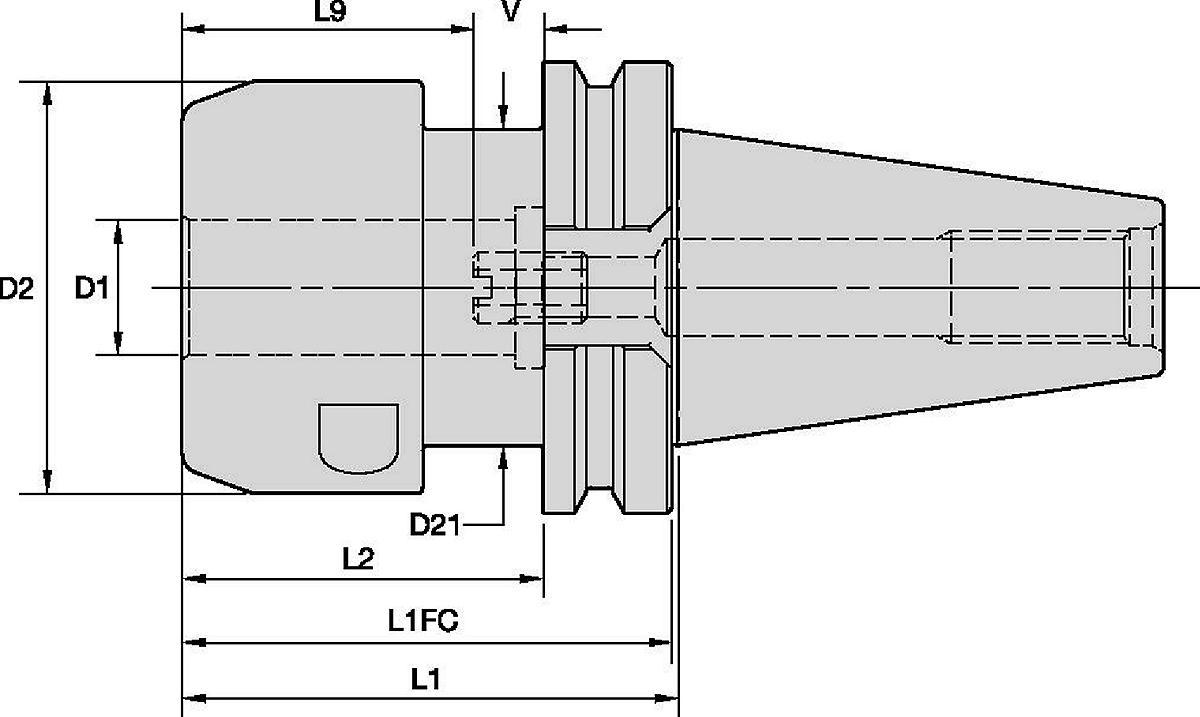 Mandrin hydraulique à couple de serrage élevé (HT) HydroForce™