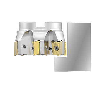 90° shoulder milling with excellent wall and surface finish capabilities.