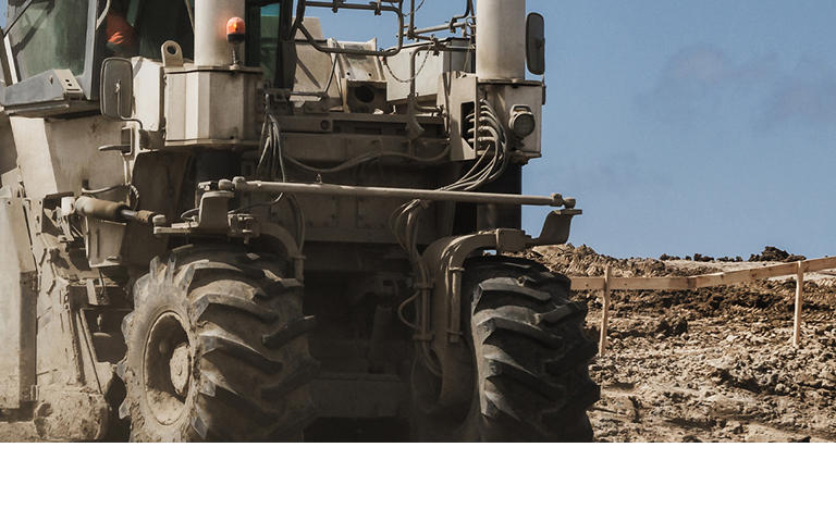 CONSTRUCTION MACHINERY -  Soil Stabilizer on the construction site