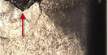 Muster Wendeschneidplattenverschleiß