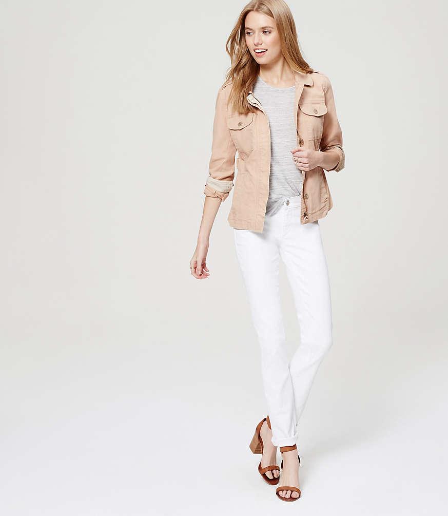 Petite Modern Straight Leg Jeans in White