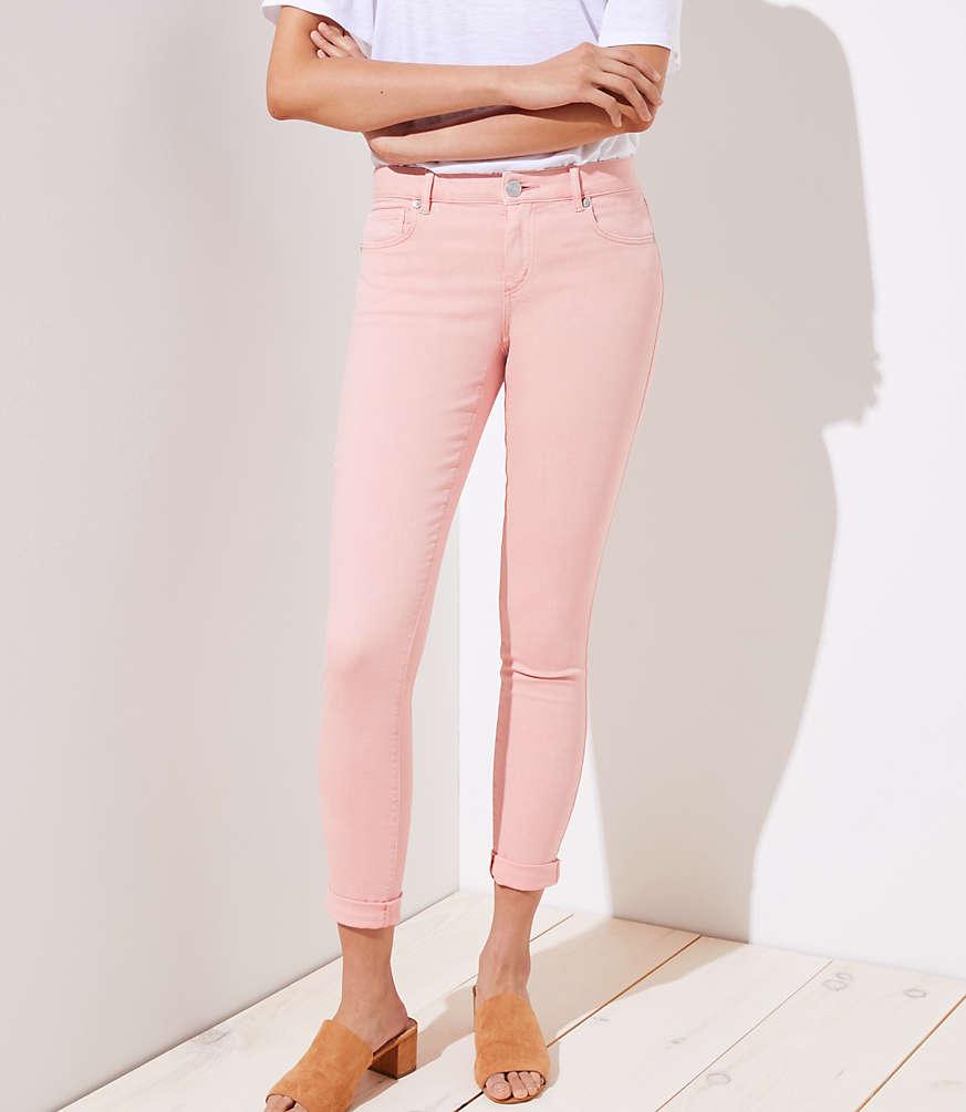 Petite Curvy Skinny Crop Jeans